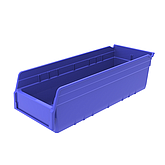 Raxwell 精益物料盒TK5215,外尺寸规格D*W*H(mm):500×200×150,全新料,蓝色,15个/箱(标签牌1+标签纸1)