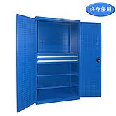 Raxwell 蓝色双开门层板置物柜(三层板双抽),尺寸(长*宽*高mm):1000*600*1800
