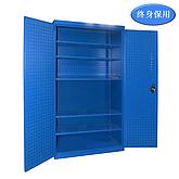 Raxwell 蓝色双开门带挂板置物柜(五层板),尺寸(长*宽*高mm):1000*600*1800