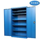Raxwell 蓝色双开门置物柜(五层板),尺寸(长*宽*高mm):1000*500*1800
