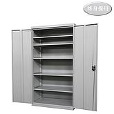 Raxwell 灰色双开门置物柜(五层板),尺寸(长*宽*高mm):1000*500*1800