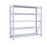 Raxwell层板货架,5层,500kg,尺寸(长*宽*高mm):1800*600*2000,灰白色